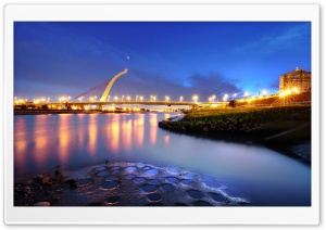 Zhongshan District, DaZhi Bridge, Taipei City, China HD Wide Wallpaper for Widescreen