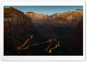 Zion National Park Canyon Overlook at Dawn Ultra HD Wallpaper for 4K UHD Widescreen desktop, tablet & smartphone