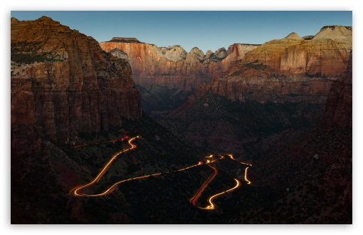 Download Zion National Park Canyon Overlook at Dawn UltraHD Wallpaper