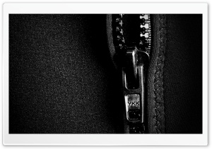 Zipper Black And White HD Wide Wallpaper for Widescreen