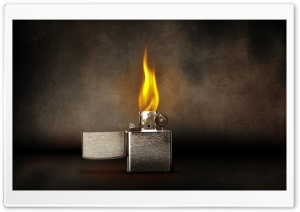Zippo Lighter Lit HD Wide Wallpaper for Widescreen