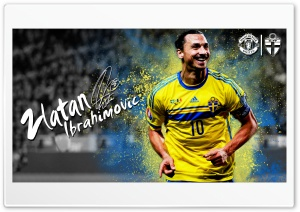 Zlatan Ibrahimovic Sweden - 2016 HD Wide Wallpaper for 4K UHD Widescreen desktop & smartphone