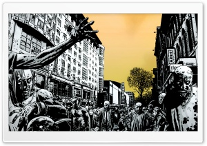 Zombie City HD Wide Wallpaper for Widescreen
