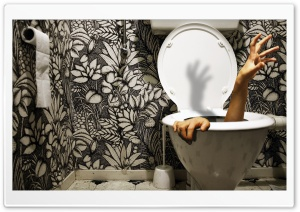 Zombie Toilet HD Wide Wallpaper for Widescreen