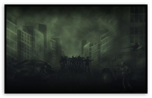 Zombies Attack HD wallpaper for Wide 16:10 Widescreen WHXGA WQXGA WUXGA WXGA ; HD 16:9 High Definition WQHD QWXGA 1080p 900p 720p QHD nHD ;