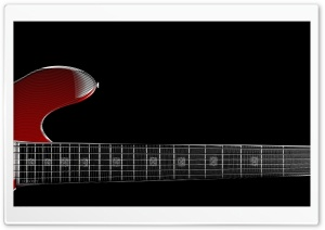 Zoom Red Guitar HD Wide Wallpaper for Widescreen